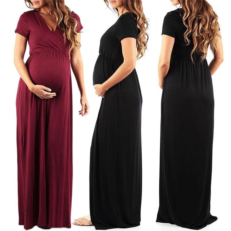 Платья для беременных Одежда для беременных платье для беременных весенне-летние платья Одежда для мам длинные фото реквизит Одежда