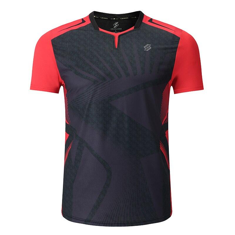 Новая рубашка для бадминтона спортивная одежда теннисная рубашка для женщин/мужчин, спортивные футболки для настольного тенниса, одежда для тенниса, Qucik рубашка для занятий сухим спортом 3899