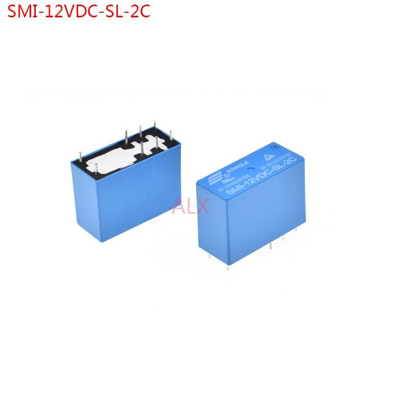 2PCS POWER relais SMI-12VDC-SL-2C 5a 250VAC/30VDC 8pin 12v realys