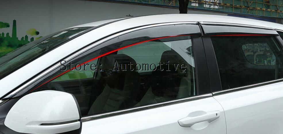 4PCS Plastic Exterior Side Window Deflector For Honda CR-V CRV 2017-2018 2019 2020