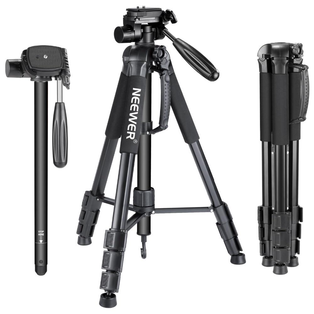 Neewer كاميرا ترايبود Monopod سبائك الألومنيوم مع 3-طريقة قطب عموم رئيس حمل حقيبة لسوني/كانون المحمولة 70 بوصة/177 سنتيمتر