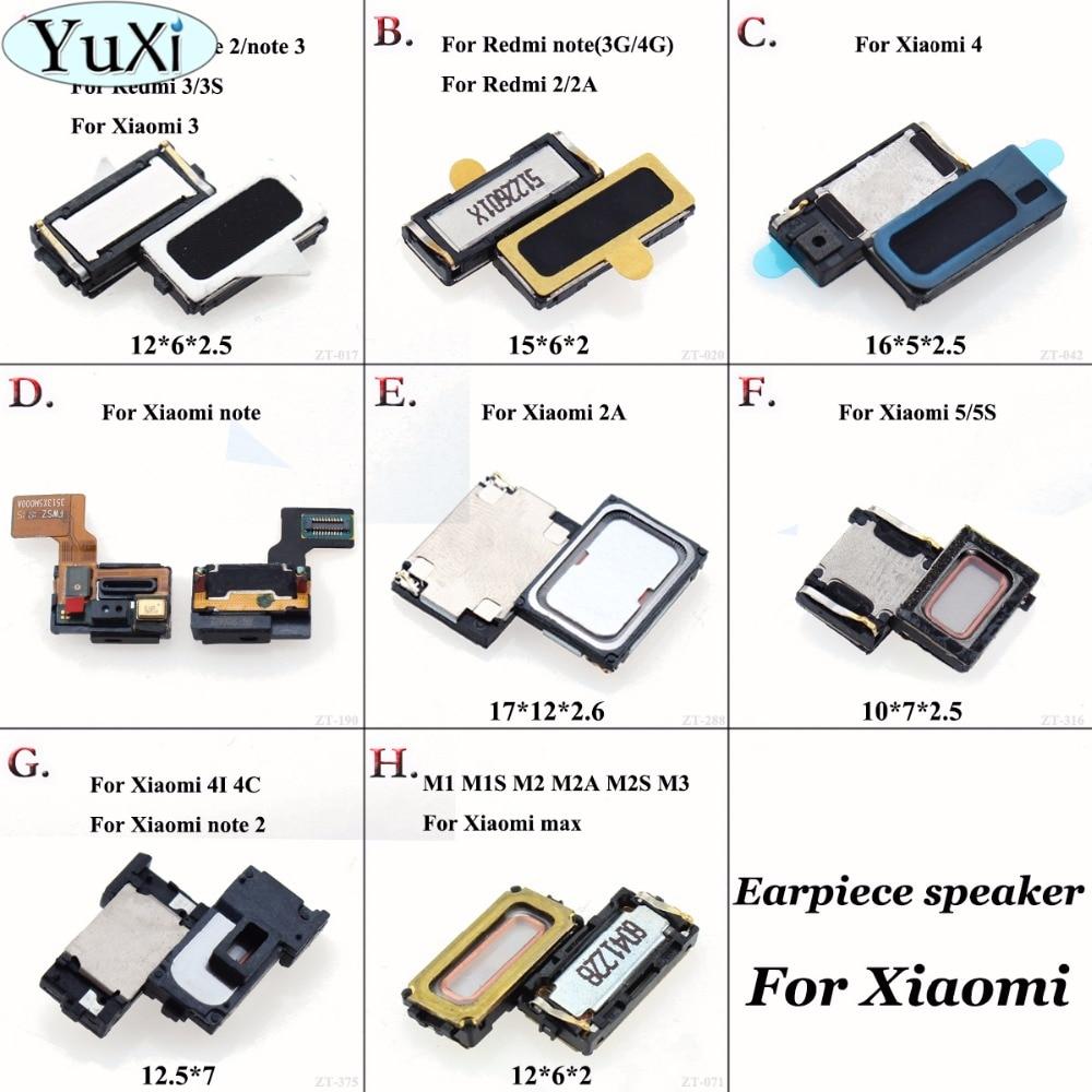 Yuxi Earpiece Ear Speaker Sound Receiver For Xiaomi Mi 1 1s 2 2a 2s 3 Mi4 Note 2 Max 4c 4i 5 For Redmi 1s 2 4a 2s 3x 3s Note 2