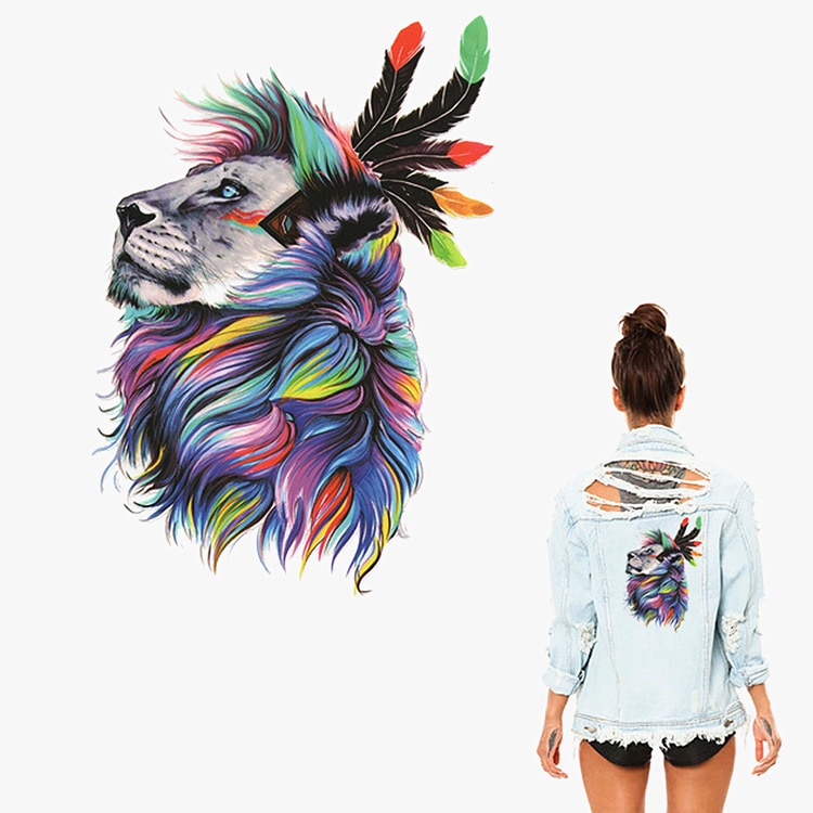 Color head thermal transfer offset hot cartoon animal pattern DIY clothing T-shirt washable printing