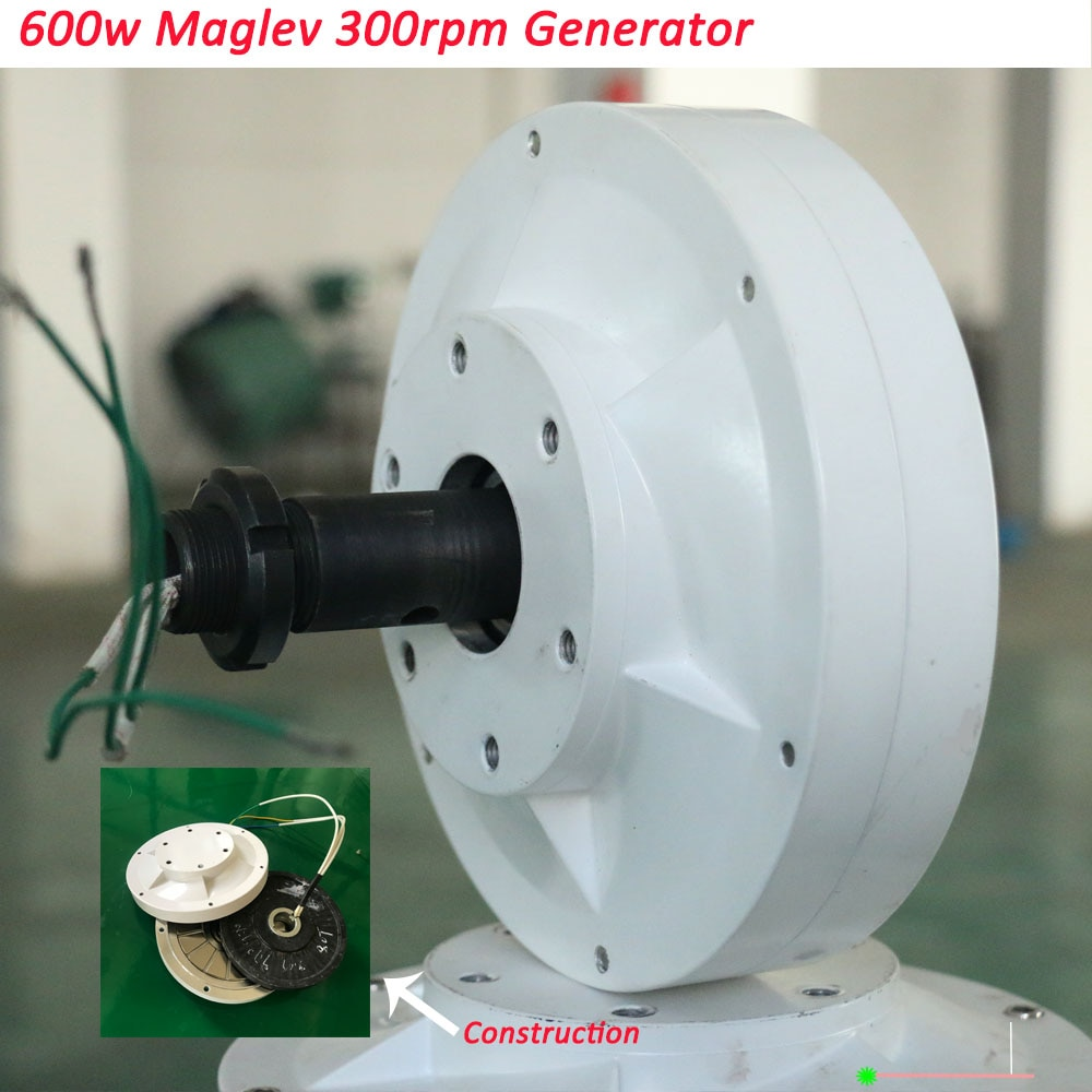 مولد مغناطيسي دائم لطاقة الرياح ، 500 واط ، 600 واط ، 12 فولت ، 24 فولت ، 3 مراحل ، 300 دورة في الدقيقة ، جديد
