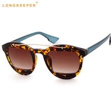 Nova moda feminina olho de gato óculos de sol leopardo quadro óculos senhoras espelho óculos de sol gafas feminino gafas longkeeper