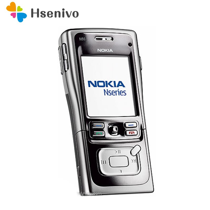 Nokia-هاتف محمول n91 مجدد ، وذاكرة وصول عشوائي 8 جيجا بايت ، وذاكرة وصول عشوائي 4 جيجا بايت ، وواي فاي 3G ، واللغة العربية والروسية ، مجدد