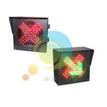 200mm placa laminada en frío luz de tráfico estación de peaje guía rojo verde led señal de tráfico