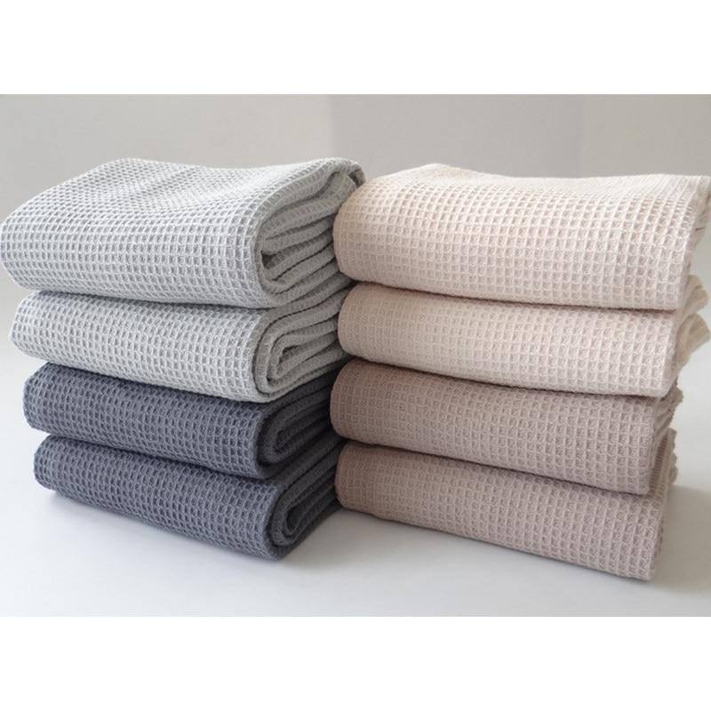 Toalla de cocina de 38x62 cm 2 unids/set 100% de algodón Waffle café té taza toalla gris limpieza plato de tela toallas 2018 nuevas servilletas de mesa