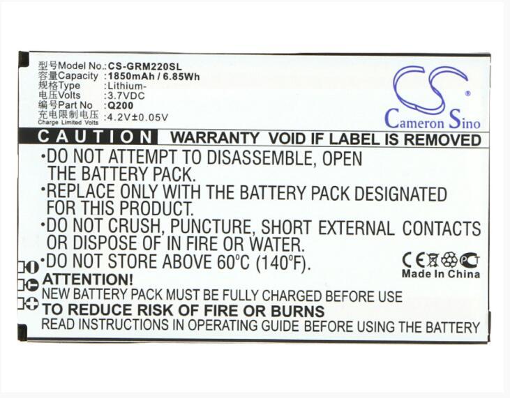 Batería de 1850mAh Cameron Sino para móvil verde naranja M2 Q200, batería para SmartPhone