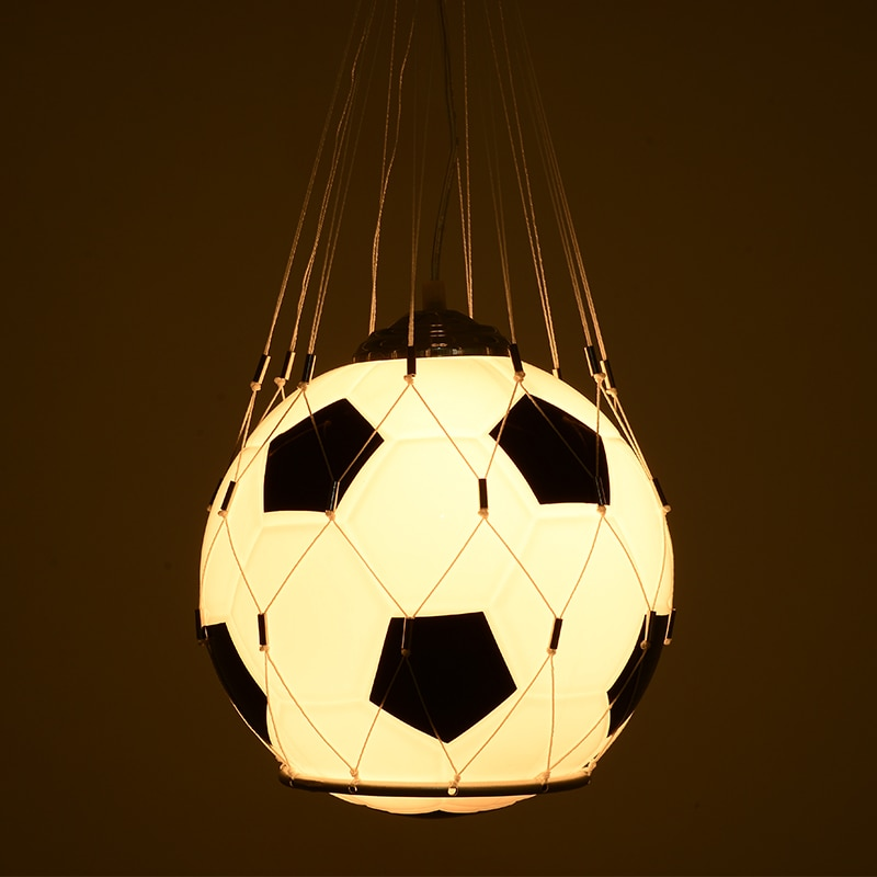 مصباح معلق حديث ، تصميم كرة سلة ، إضاءة داخلية ، مصباح سقف مزخرف ، مثالي لغرفة الطفل.