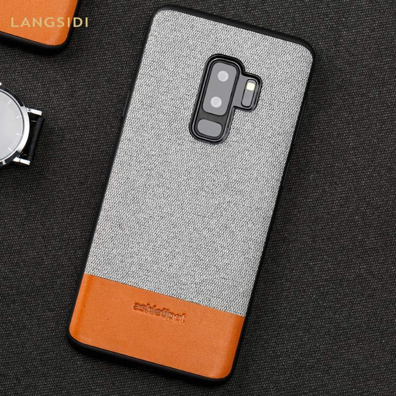 Na płótnie stitch skóra bydlęca przypadku telefonu do Samsung Galaxy S20 Ultra s10 S9 S7 S8 s20 plus uwaga 10 Plus a80 a50 a70 A51 A7 A8 2018 A30
