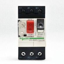 Nowa oryginalna Schneider GV2ME07C ochrona silnika przerywacz GV2-ME07C 1.6-2.5A przycisk 3P termiczny typ magnetyczny