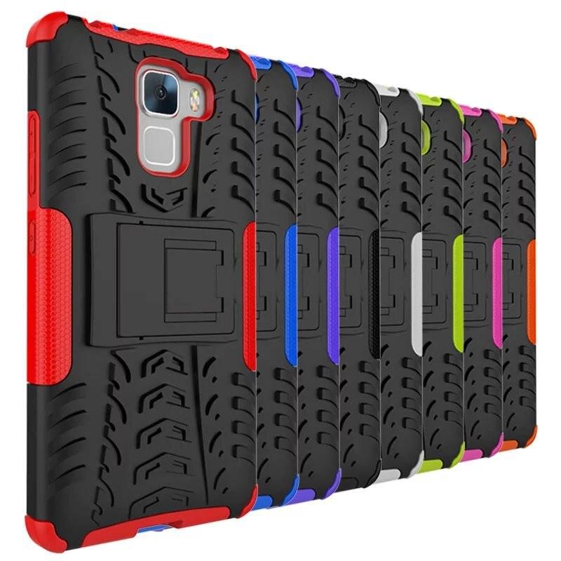 Huawei Honor 7 caso híbrido de TPU de silicona + caja del teléfono duro para Huawei Honor 7 PLK-L01 PLK-AL10 caso protectora cubierta de la bolsa