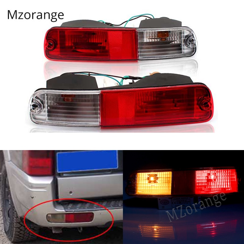MZORANGE Rear Bumper Tail Signal Tail Light Reflector Light For Mitsubishi Pajero Montero V73 V75 V77 2003 2004 2005 2006 2007