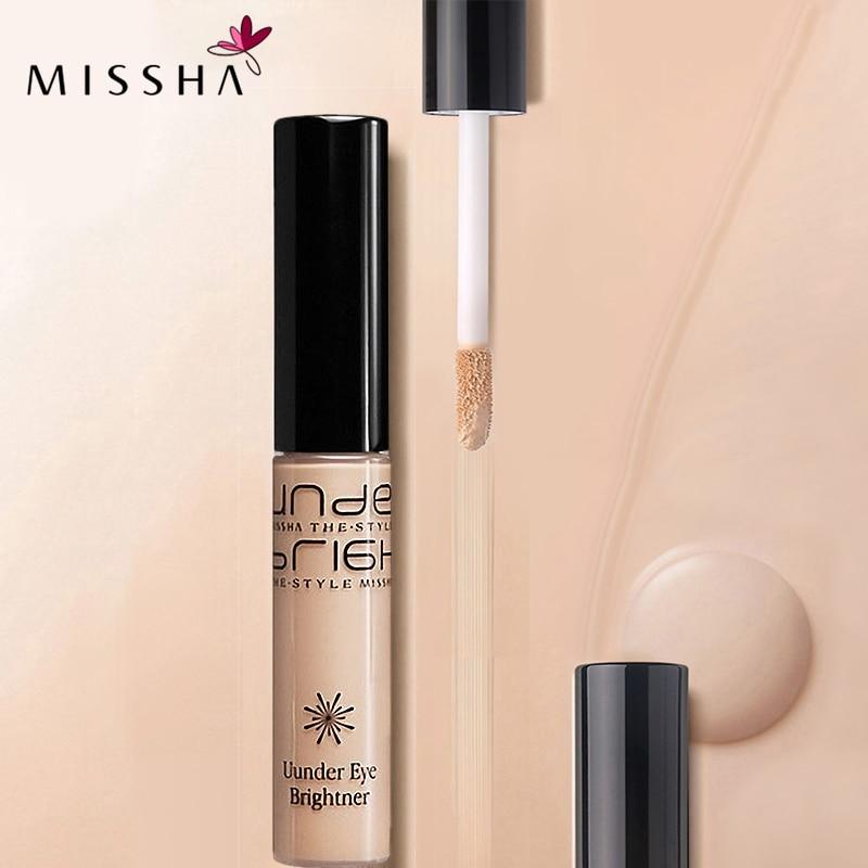 MISSHA Eye Concealer Cream Makeup Concealer Liquid Convenient Makeup Brushes foundation Korean Cosmetics