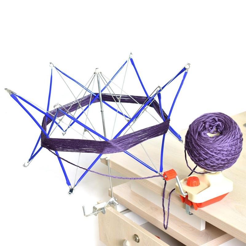 Thread Wool Winder Knitting Umbrella Wool Yarn String Winder Holder Hand operated Skeins Line Crochet Stitch Craft Tool
