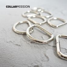 Collier en métal pour chiens   Bricolage, accessoire durable en forme de D, boucle en demi-cercle non soudée pour 25mm sangles en métal DK25Y02