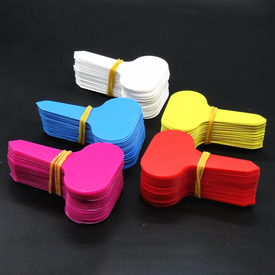 50ks barevných značkovačů na zahradu, bonsaje, sukulenty, štítky na sazenice, PVC zahradní štítky, půdní barevné tyčinky