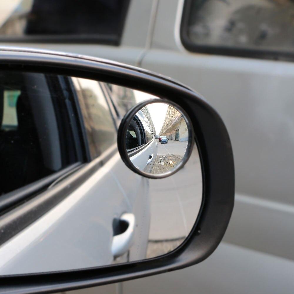 Espejos retrovisores convexos de cristal redondo gran angular de 360 grados para Jeep Compass Renegade Cherokee Accesorios
