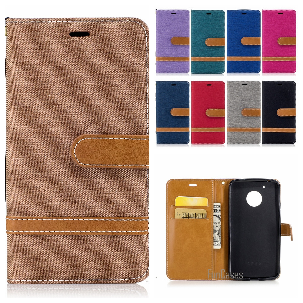 Funda de cartera magnética colorida de moda para Motorola Moto G5 Plus...