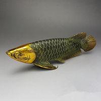 Chinese brass gilt old handwork lucky home decoration handicraft ' Fish '