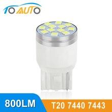 T20 LED 7443 7440 W21/5 W W21W светодиодные лампы WY21W Автомобильная сигнальная лампа стоп-сигналы DRL Автомобильная Лампа 12V 6000K белый желтый красный
