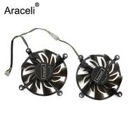 2pcslot cooler fan 12v 83mm 4pin for zotac gtx 950 2gd5 tsi pa gtx 960 4gd5 hb graphics card cooling fan