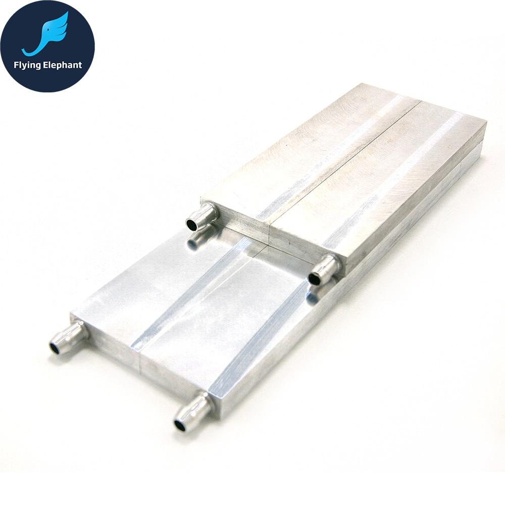 Алюминиевый блок водяного охлаждения Радиатор процессора высокотехнологичный полупроводниковый чип 80*160 80*250 мм