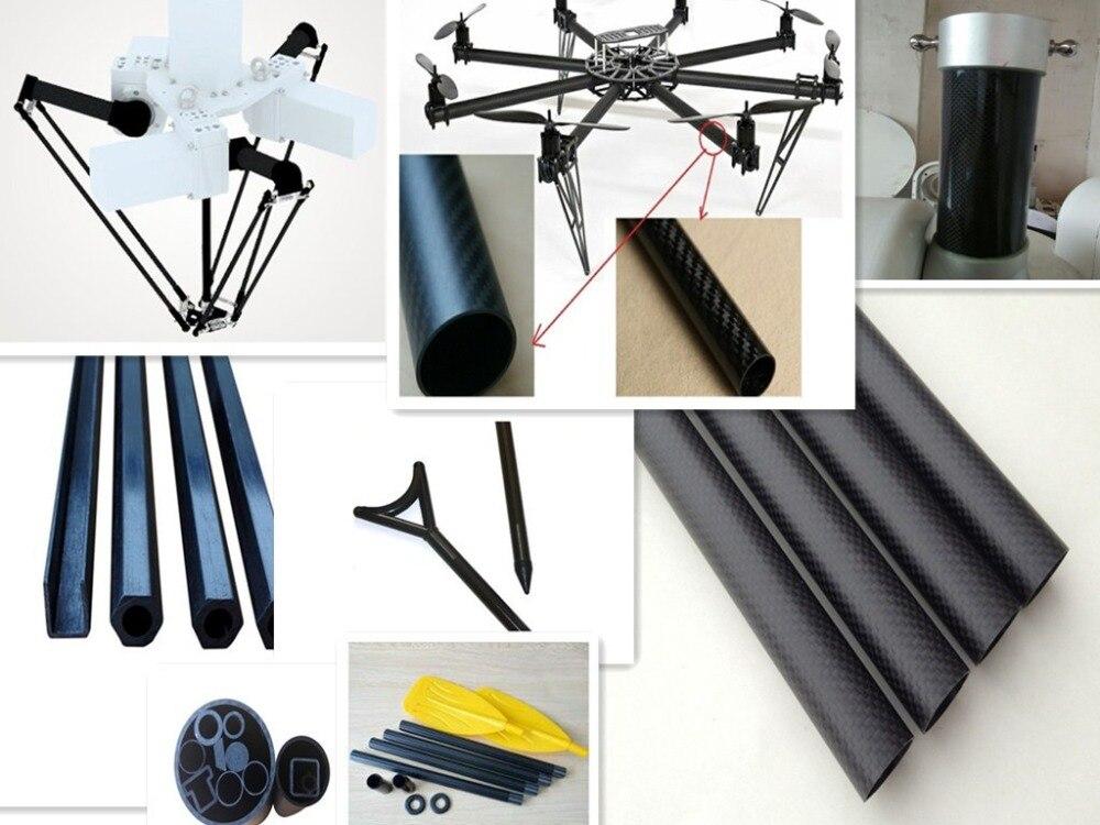 black Carbon fiber tube straight length 400mm diameter 2mm 4mm 5mm 6mm hardness light