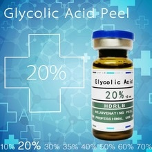 Vendas loucas ácido glicólico 20% ácido glicólico casca química 20% esfoliador rosto peeling acne removedor cravo peeling rosácea