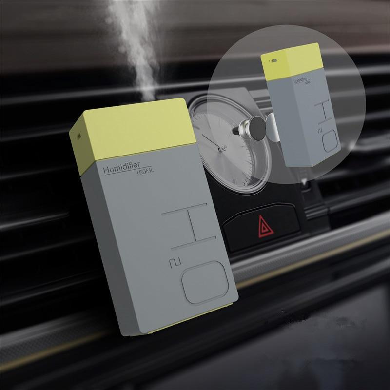 Humidificador de aire USB recargable de 150 ML, difusor de aceite esencial, humidificador de Aroma para coche, generador de niebla ultrasónica para el hogar y la oficina, para imán