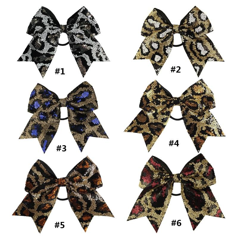 Large accessoires de cheveux pour femmes 8 pouces   1 pièce, chouchous filles paillettes, écailles à paillettes, nœud élastique, bandes de cheveux,
