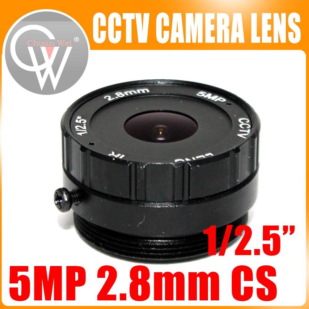 Фото - Объектив 2,8 мм, широкоугольный объектив 120 градусов камера видеонаблюдения, купольный объектив, крепление CS, поддержка CCTV, IP, аналоговая каме... объектив