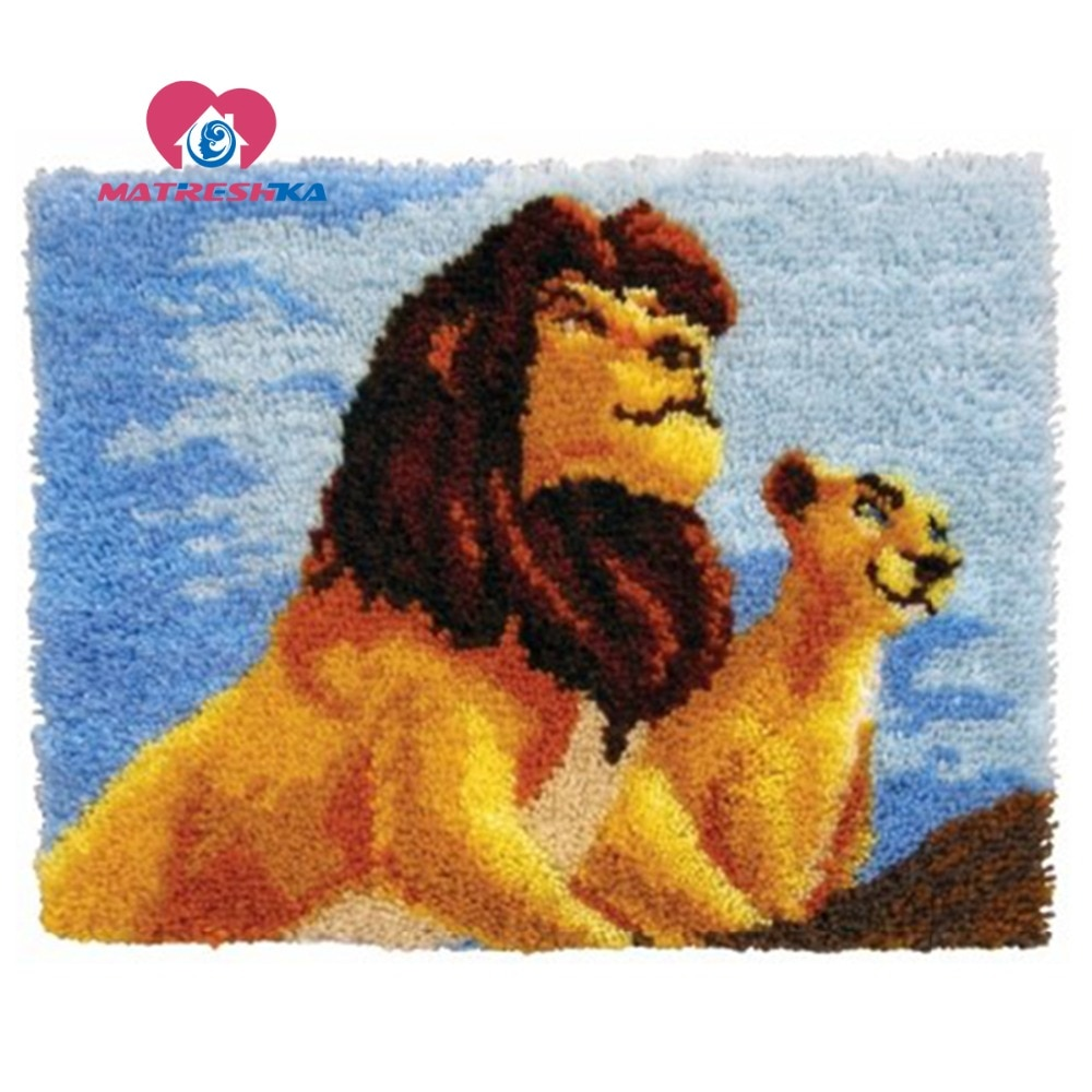 diy kit fabric craft latch hook tool kit ladybug carpet embroidery pillow latch hook rug do it yourself latch hook rug kits