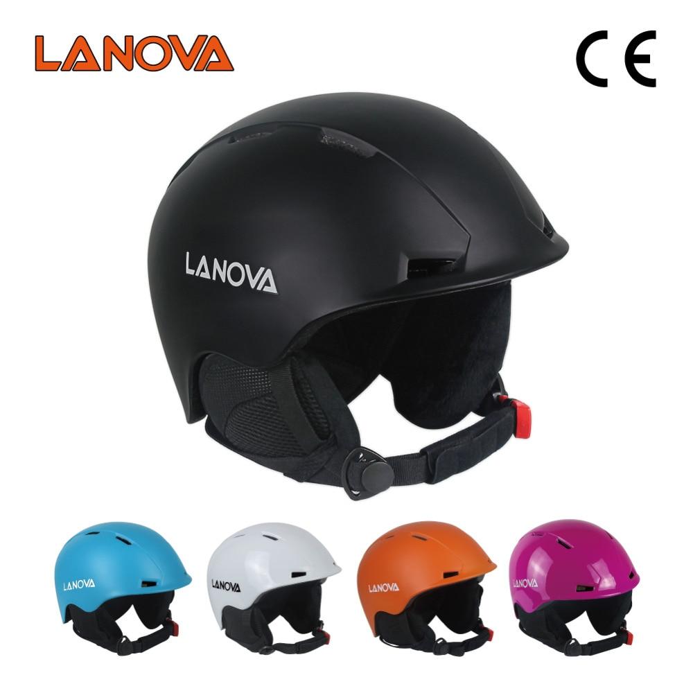 Casco de esquí profesional LANOVA, casco de esquí para adultos, casco de patinaje para hombre, casco de skateboard, cascos deportivos multicolores para nieve