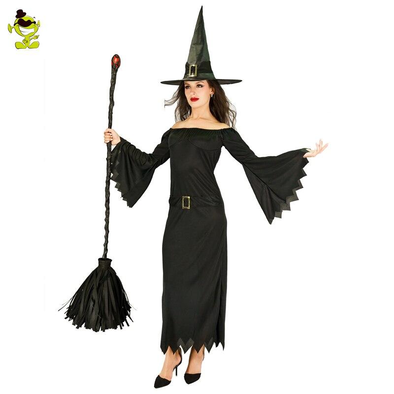 Nuevo disfraz de bruja gótica y reina para adultos, renacimiento Medieval, vestido de fantasía negro, traje de Cosplay para Halloween