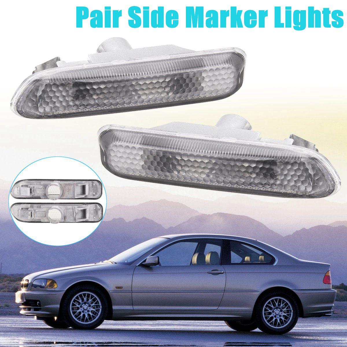 for BMW E46 3 Series 4D/5D 98-01 2D 99-03 2X for Fender Side Marker Light Turn Lamp