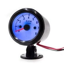 "CNSPEED 2""52MM 12V Car Auto Tachometer Gauge 0-8000RPM Mechanical Speed Meter Blue LED with Gauge Pod Holder Car RPM YC100016"