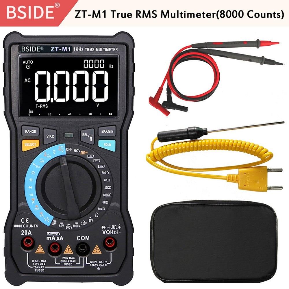ترقية BSIDE ZT-M1 عالية الجودة السيارات/دليل رقمي متعدد TRMS 3-Line 8000 التهم إضافة قياس V.F.C محول الساخن