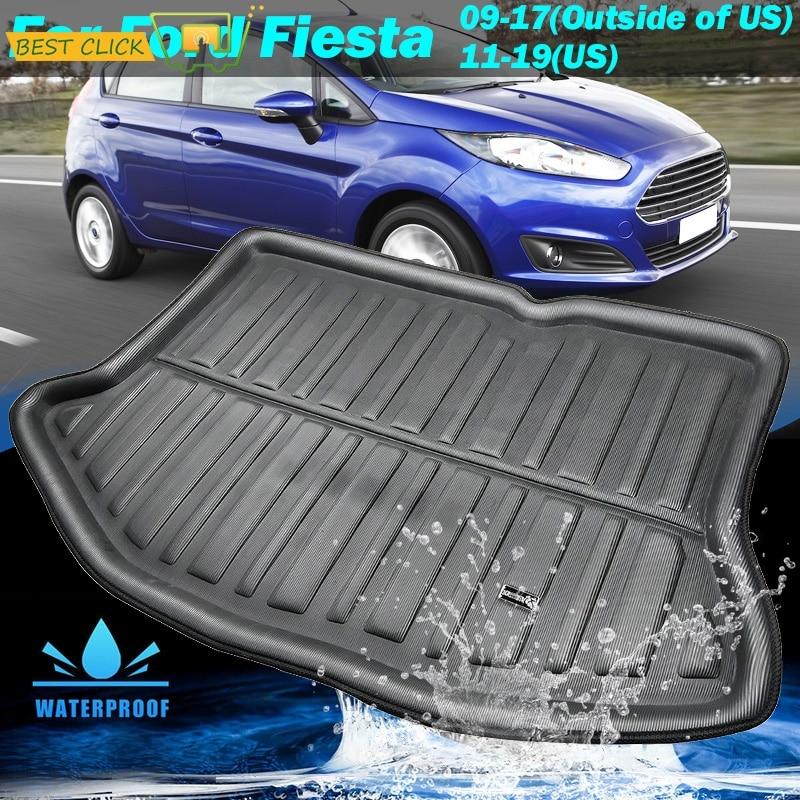 Подходит для Ford Fiesta 2009 2010 2011 2012 2013 2014 2015 2016 2017 Hatchback Boot Liner задний багажник коврик Грузовой лоток напольный ковер