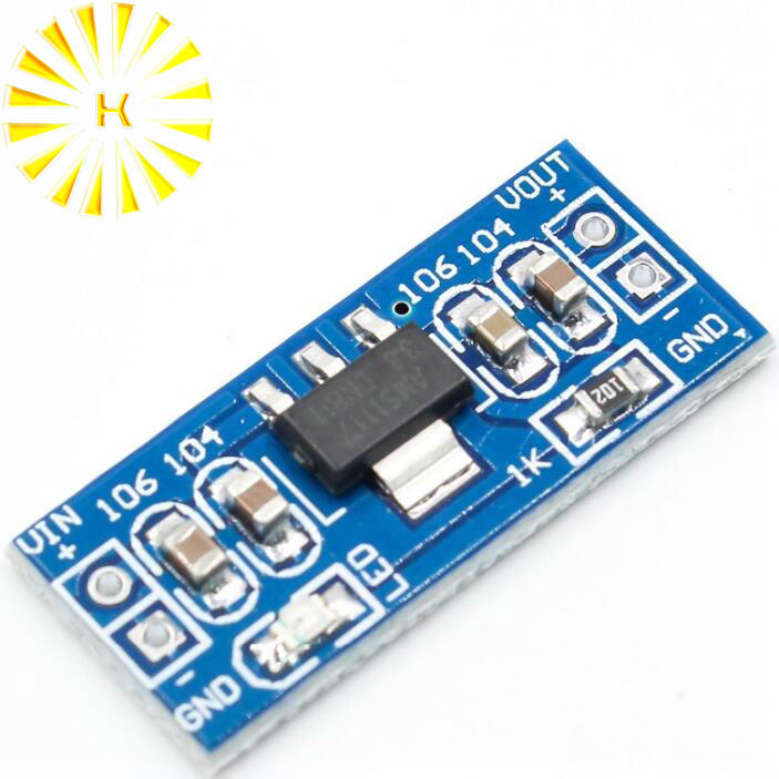 Alta calidad LM1117 AMS1117 4,5-7 V a 3,3 V DC-DC paso módulo de fuente de alimentación bluetooth Raspberry pi