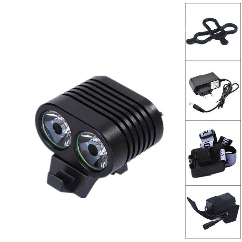 5000 lúmenes XM-L 2T6 LED bicicleta luz frontal lámpara batería cargador + diadema