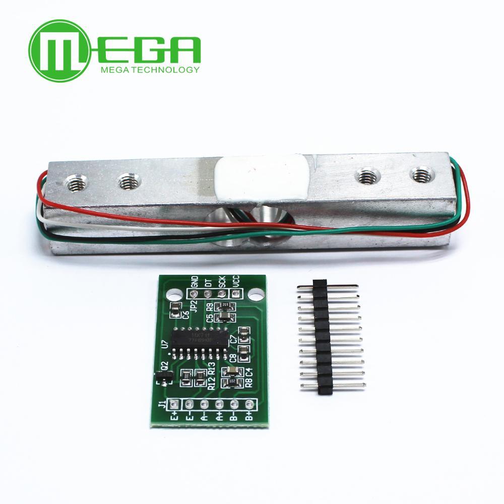 10 juegos de Sensor de peso de celda de carga Digital 10KG báscula de cocina electrónica portátil HX711 Placa de módulo de presión de Bit A/D