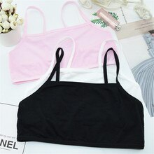 1pc Teenage Underwear For Girl Children Girls Cotton Lace Wireless Young Training Bra For Kids And T