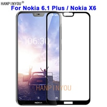 For Nokia 6.1 Plus / Nokia X6 TA-1099 9H Hardness 2.5D Full Cover Toughened Tempered Glass Film Scre
