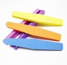 50Pcs/Lot Mix Color Nail Files Sponge Diamond Nail Buffer File Washable Lime Unghie 100/180 Nail Polish Buffer Block Suppliers