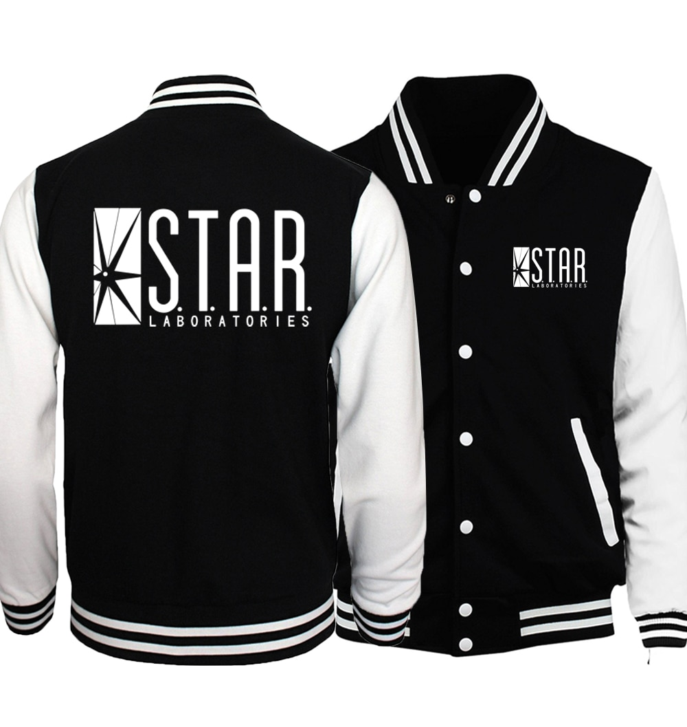 Sterne S. T. A. R. Labs Baseball Jacken Männer 2020 Frühling Hot Slim Fit Mantel Hoodies Männer Marke Skateboard Jacke Plus Größe S-5XL