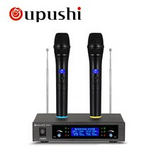 Micro professionnel avec récepteur micro dynamique Uhf pour karaoké KTV System Studio