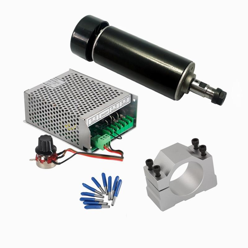 Yocnc 500W DC husillo refrigerado por aire, suministro de energía, abrazadera de regulador, Herramientas CNC para diy, mini enrutador cnc