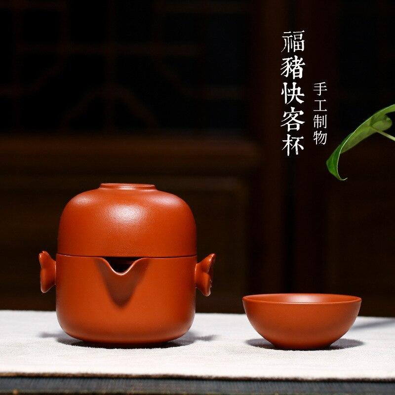 خنزير الكراك كأس السفر مصنعين الجملة تعيين وعاء من كوبين من الموصى بها مكتب المنزل من طقم شاي الكونغ فو